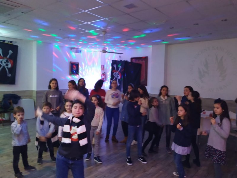 Merienda y disco light Infantiles